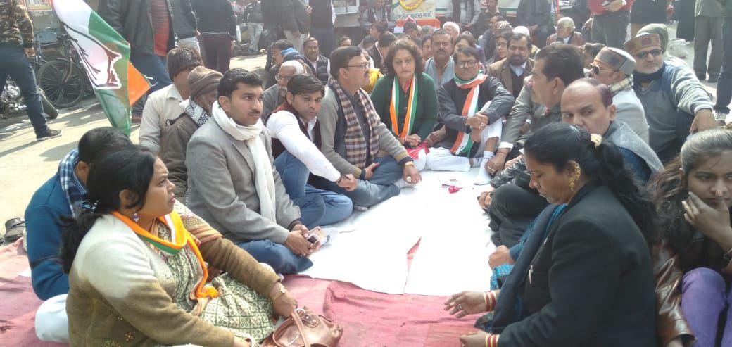हिन्दू महासभा के नेताओं द्वारा राष्ट्रपिता महात्मा गाँधी जी का अनादर करने पर कानपुर महानगर कांग्रेस