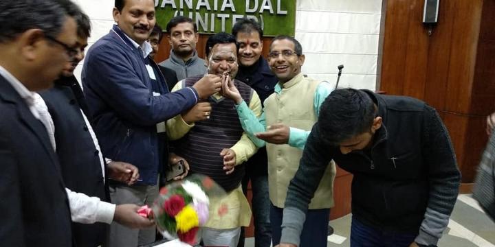 जनता दल यूनाइटेड पार्टी कार्यालय मेंयुवा जदयू दिल्ली प्रदेश अध्यक्ष माननीय अमल कुमार जी का जन्