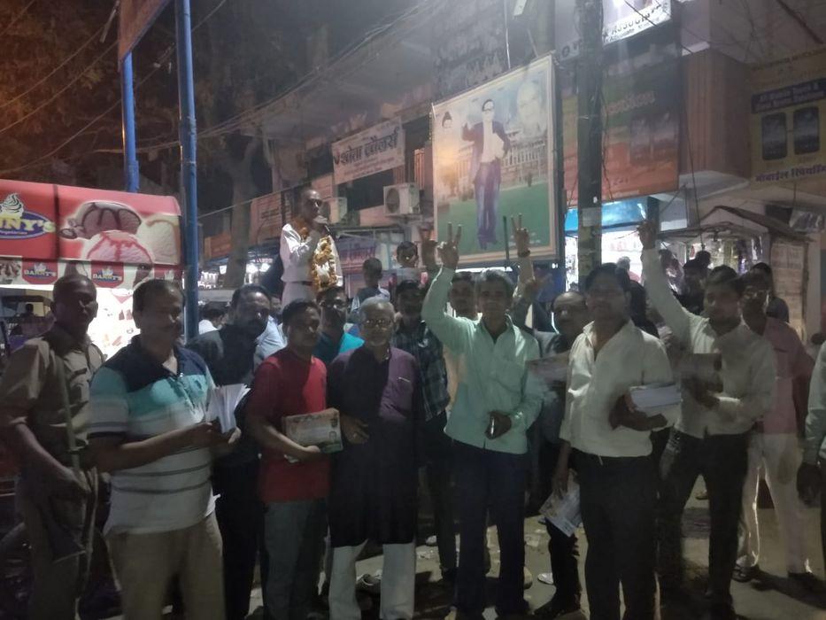 सुभाष युवा मोर्चा - यादवों की महापंचायत में सुभाष वादी पार्टी के अशोक शर्मा भारतीय के पक्ष में मतदान